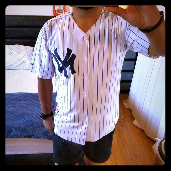 Majestic Other - Large 44 New York Yankee Yankees pinstripe jersey be3557a2f75